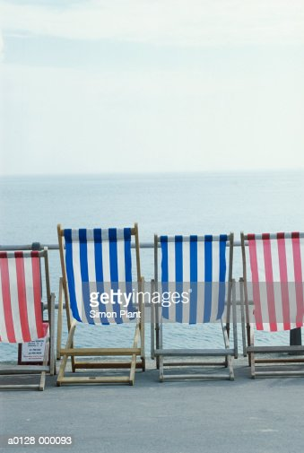 Deckchairs on Seafront : Stock Photo