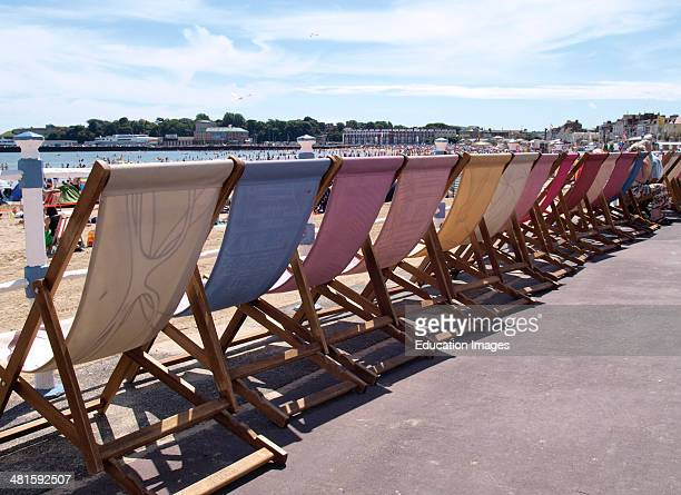Deckchairs Weymouth Dorset UK