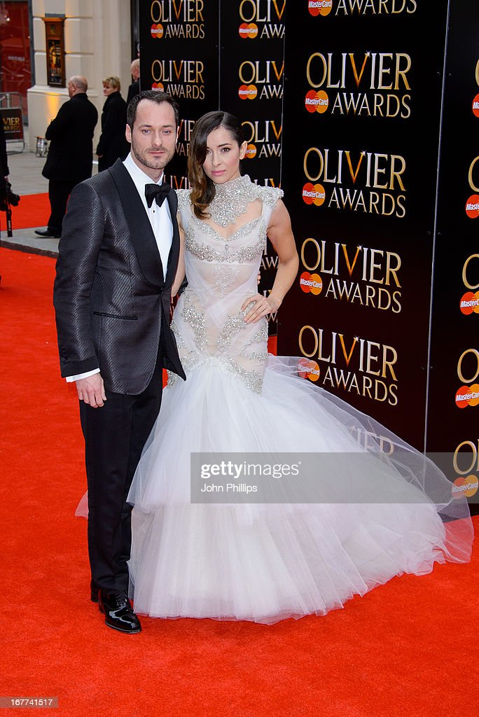 Declan Bennett and Zrinka Cvitesic attend The Laurence Olivier Awards at The Royal Opera House on April 28, 2013 in London, England.