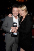 Declan Donnelly accepting the TV Personality of the Year award for Ant and Dec and Fern Britton pose at the TRIC Television and Radio Industries Club...