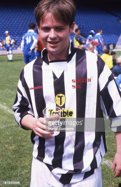 Declan Donnelly half of Ant Dec English comedy and TV presenting duo at a charity football match London 1998
