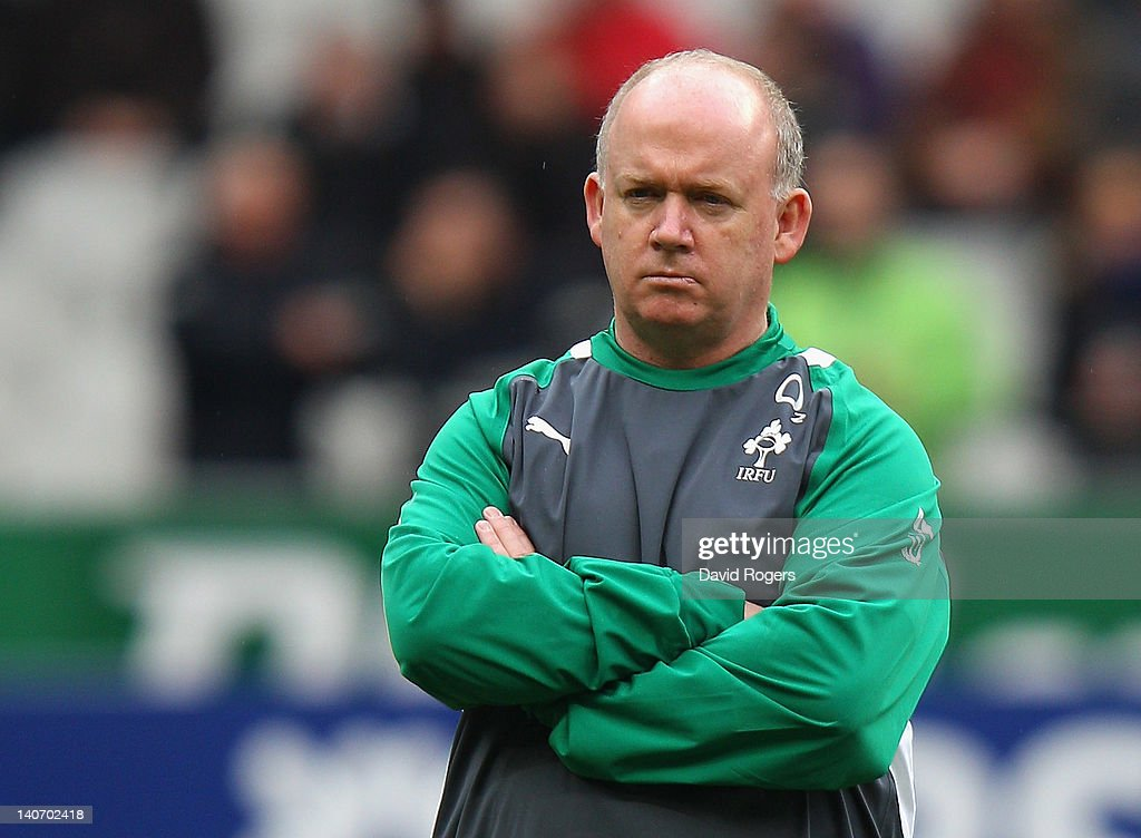 <a gi-track='captionPersonalityLinkClicked' href=/galleries/search?phrase=Declan+Kidney&family=editorial&specificpeople=626890 ng-click='$event.stopPropagation()'>Declan Kidney</a>, the Ireland coach looks on during the RBS Six Nations match between France and Ireland at Stade de France on March 4, 2012 in Paris, France.