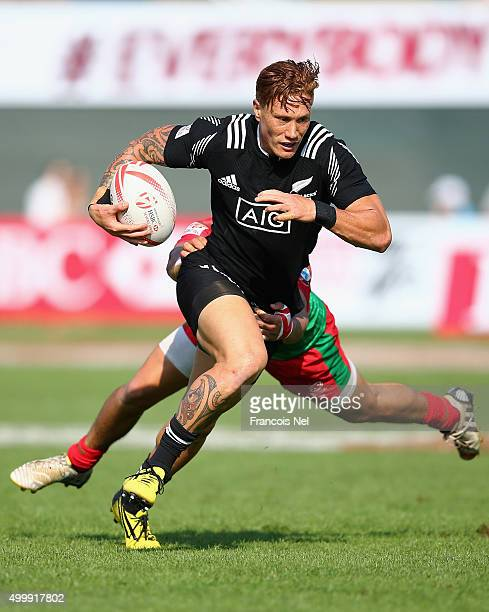 Declan O'Donnell of New Zealand in action against Portugal during the Emirates Dubai Rugby Sevens HSBC World Rugby Sevens Series on December 4 2015...
