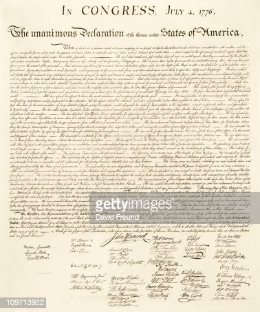 US Declaration of Independence : Stock Photo