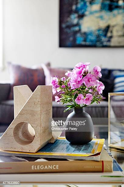 Decor details of actress Michaela Conlin's home are photographed for Domaine Home on April 23 2015 in Los Angeles California