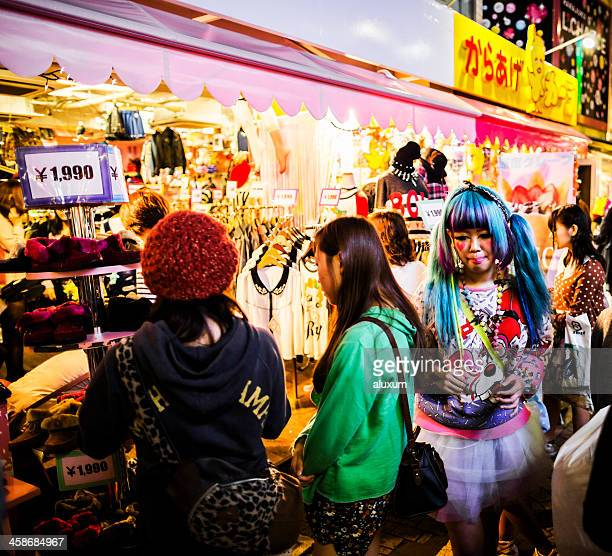 Decora style girl in Takeshita Dori Tokyo Japan
