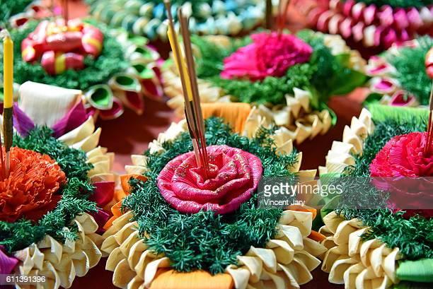 Decorated baskets Loy Kratong Bangkok Thailand