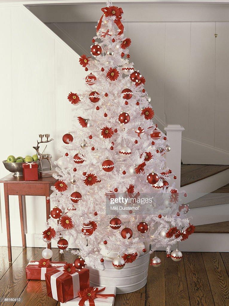 Decorated Christmas tree : Stock Photo