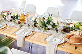 The photo is beautifully set table