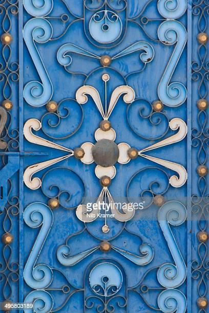 Decorated door, Izki, Ad Dakhiliyah, Oman