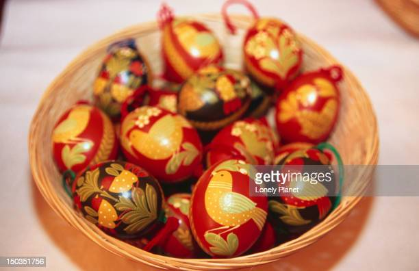 Decorated Easter eggs at Hotel Atelier.