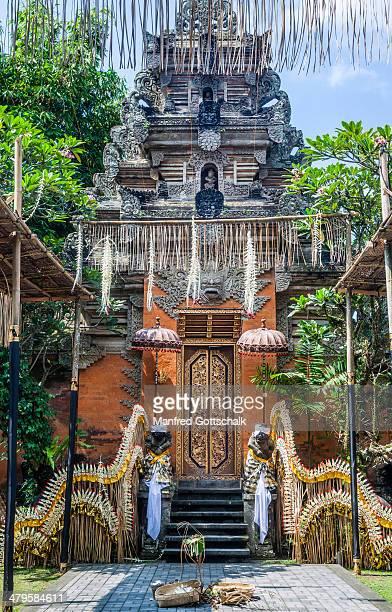 Decorated gate to Ubud Palace