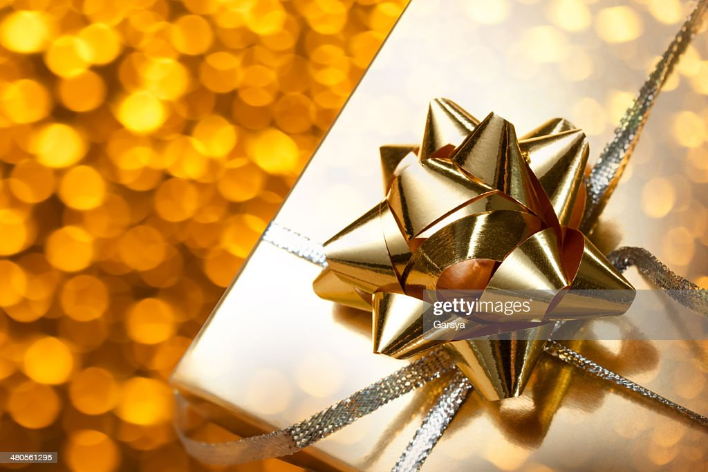 Decorated gift box : Stock Photo