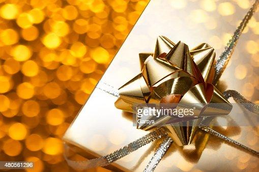 Decorated gift box : Stock Photo