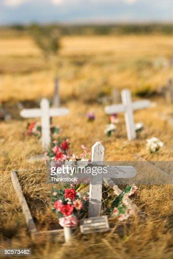 Decorated gravesites : Stock Photo