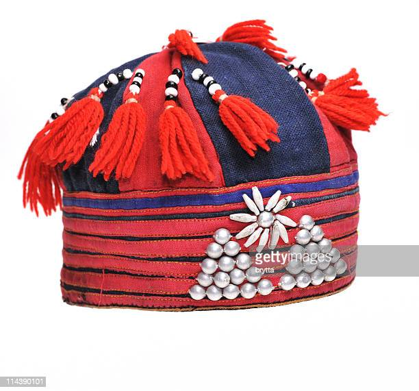 Decorated hat  belonging to Hmong hill tribes Sapa,Vietnam.