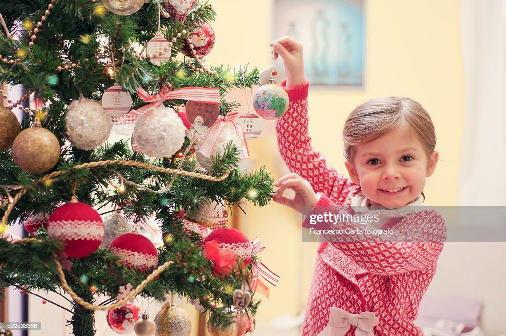 Decorating Christmas tree