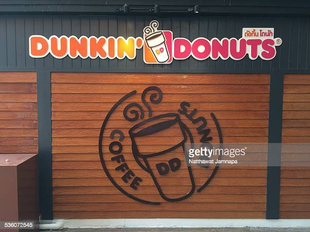 Decoration of Front Dunkin Donuts Store