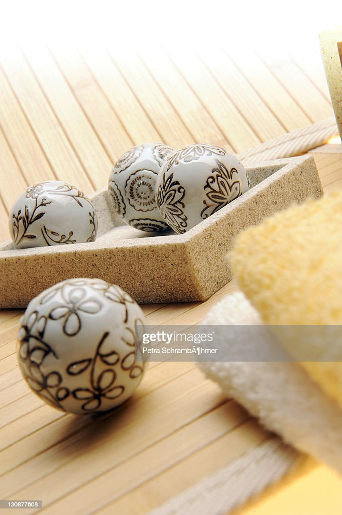 Decoration, sauna, wellness : Stock Photo