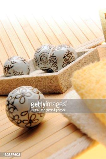 Decoration, sauna, wellness : Stock Photo