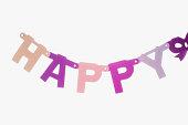 Decoration saying happy
