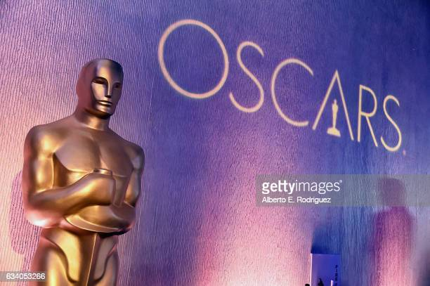 Decorations are displayed at the 89th Annual Academy Awards Nominee Luncheon at The Beverly Hilton Hotel on February 6 2017 in Beverly Hills...