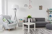Delicate modern decorations idea in white female room