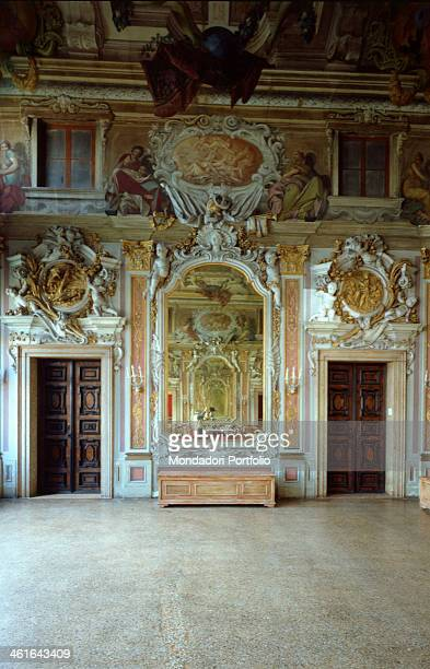 Decorations of the Ballroom in Ca' Zenobio in Venice by Antonio Gaspari Lodovico Louis Dorigny 17th century stucco and fresco Italy Veneto Venice Ca'...