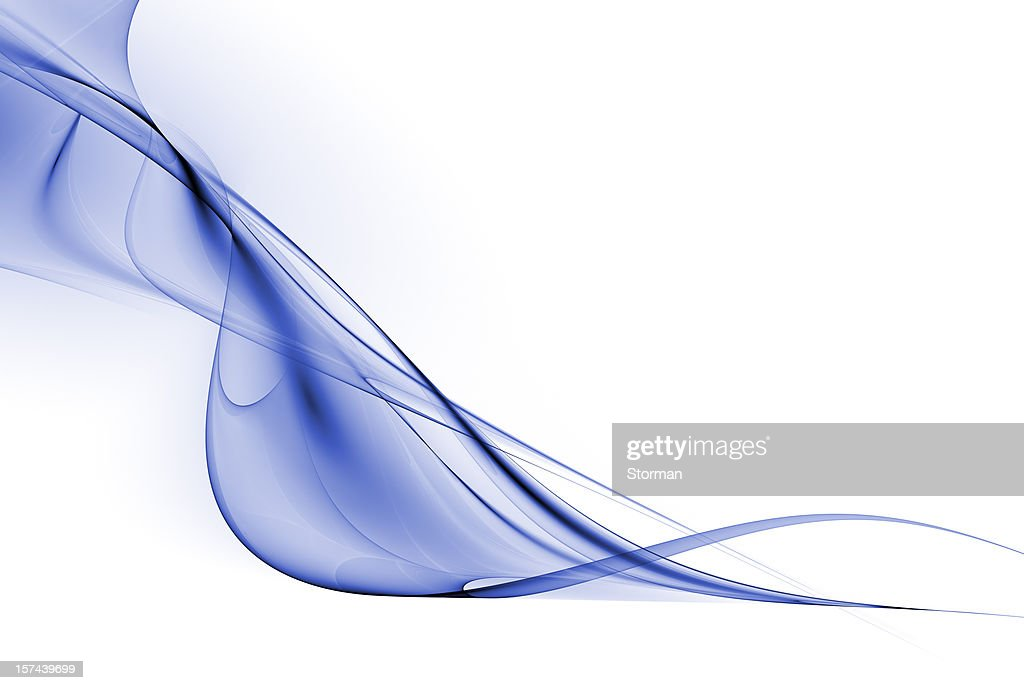 Decorative abstract blue wave on a white background