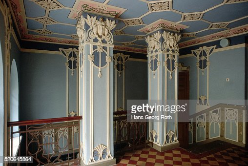 Decorative Columns In Riga Building Stock Photo Getty Images