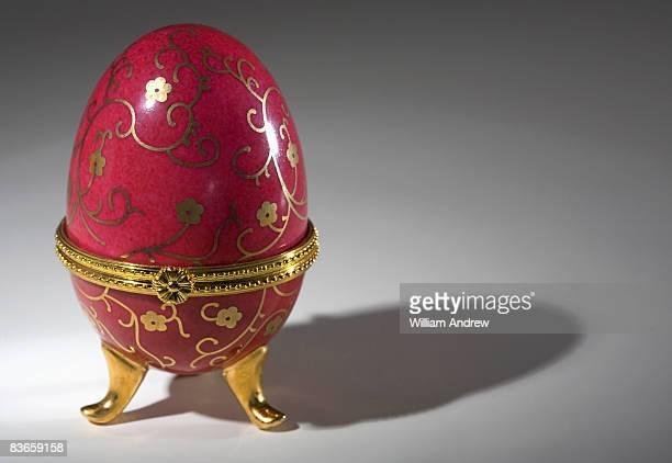 Decorative egg casting long shadow