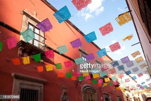 decorative flags for day of the dead stock photo - Decorative Flags