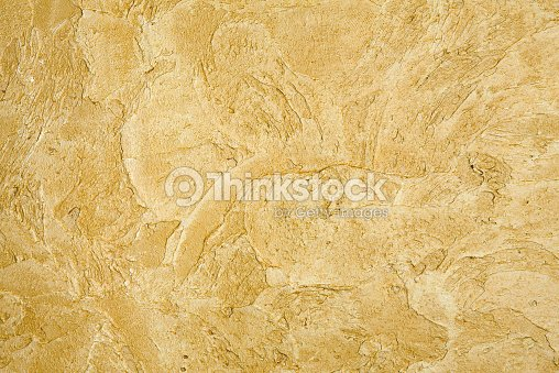 Decorative Golden Plaster Texture On The Wall Background Stock Photo ...