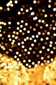 Decorative illuminated lights (defocused)