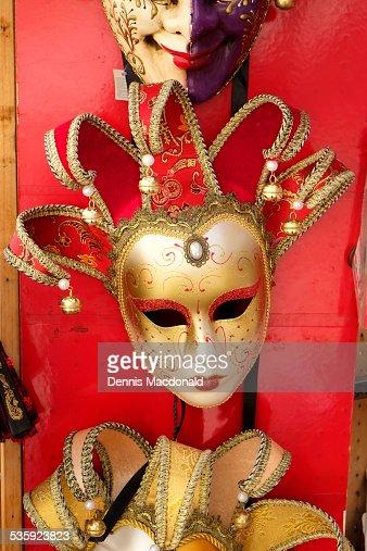 Decorative mask display, Venice : Stock Photo