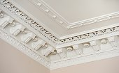 Decorative white wall/ceiling moulding