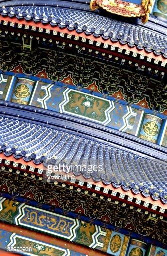 Decorative oriental rooftop : Stock-Foto