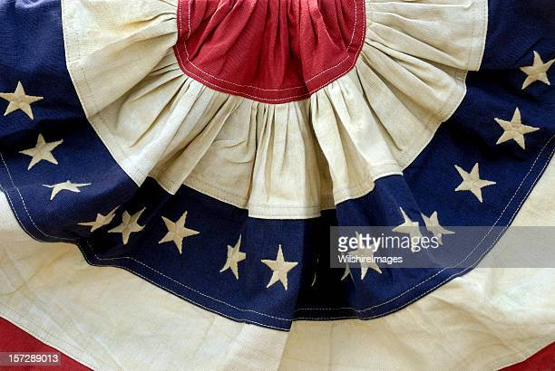 Decorative Patriotic Red, White, and Blue American Flag Bunting