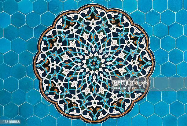 Decorative polychrome stones Jameh Mosque of Yazd Yazd Province Iran