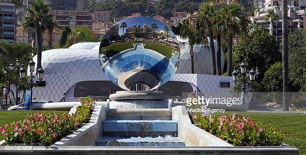 Decorative pool is seen in Monaco prior to the UEFA Champions League draw on August 27 2014 The 32 clubs 22 of which qualified automatically and ten...