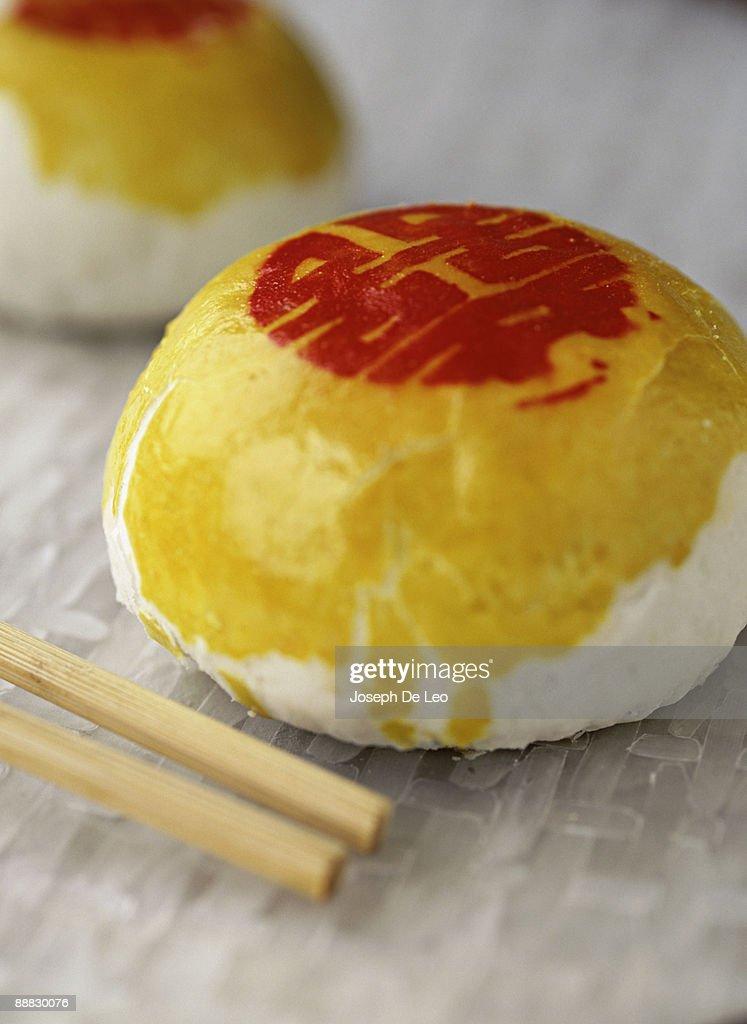 Decorative steamed bun : Stock Photo