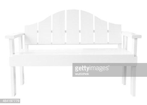 Decorativas estilo moderno branco Cadeira de Madeira : Foto de stock