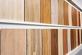 Decorative wooden panels on the walls in the store