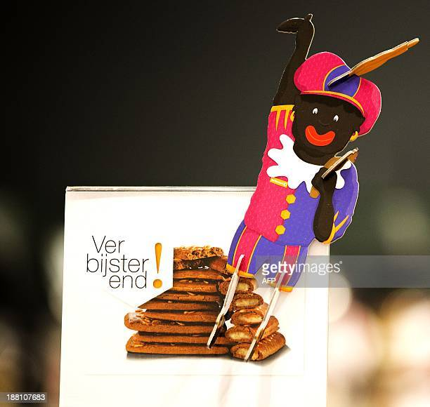 A decorative Zwarte Piet is displayed in a department store in The Hague The Netherlands on November 15 2013 Zwarte Piet is as part of the Dutch...