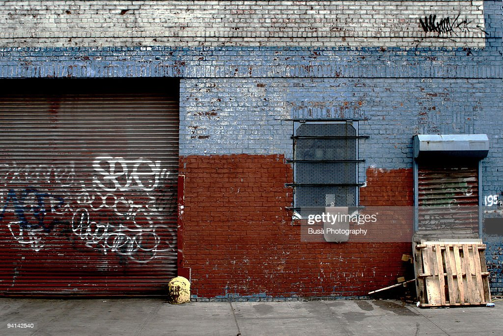 Decrept Wall in Brooklyn : Stock Photo