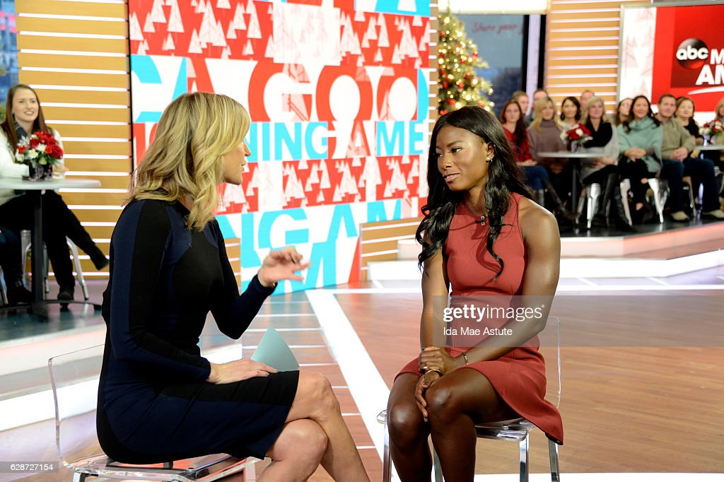 AMERICA - Deddeh Howard, the fashion model is encouraging the fashion industry to take a good hard look at its racial bias, appears on GOOD MORNING AMERICA, 12/9/16, airing on the ABC Television Network. (Photo by Ida Mae Astute/ABC via Getty Images) LARA
