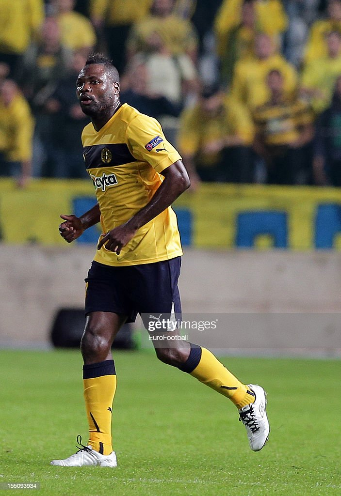 Dede of AEL Limassol FC in action during the UEFA Europa League group stage match between AEL Limassol FC and Fenerbahce SK held on October 25, 2012 at the GSP Stadium, in Nicosia, Cyprus.