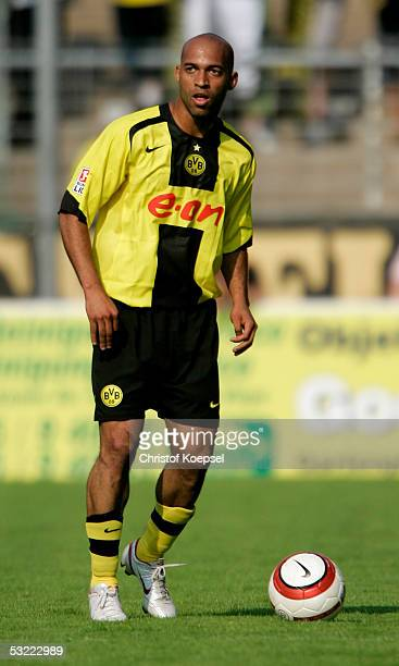 Dede of Dortmund runs with the ball during the friendly match between Borussia Dortmund and Galatasaray Istanbul on July 9 2005 in Krefeld Germany