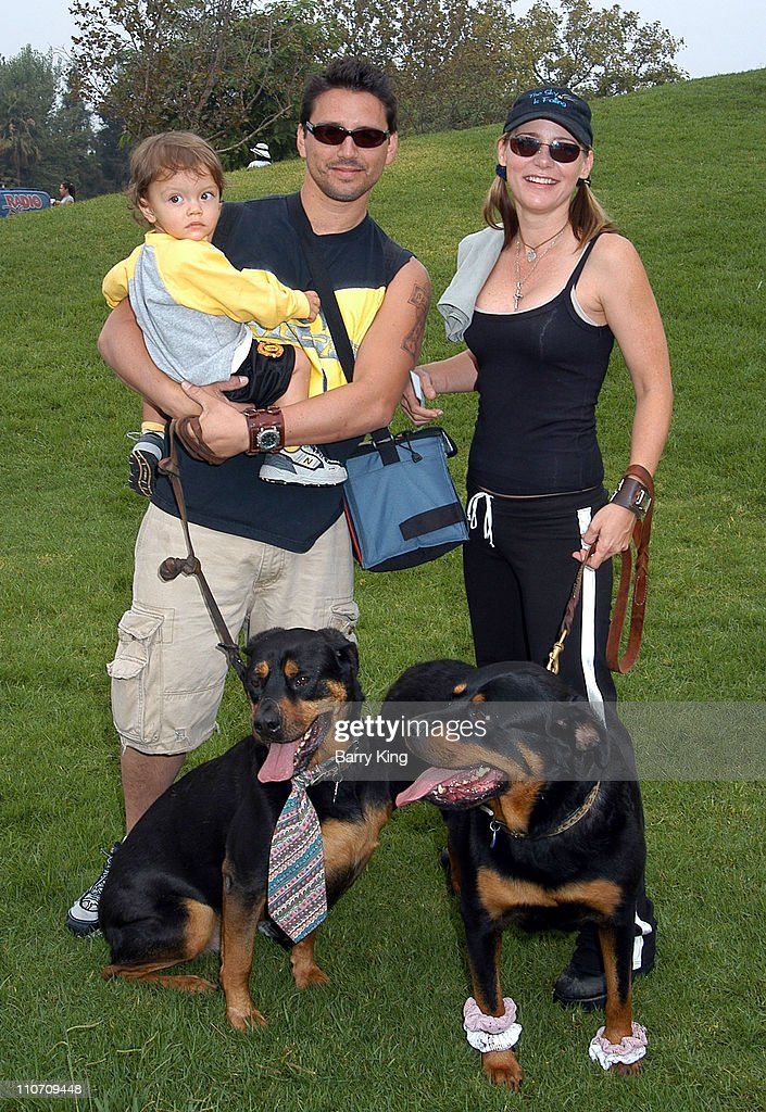 Dedee Pfeiffer & husband Santiago & son Braxten Alexandre & their dogs Butch & Chloe