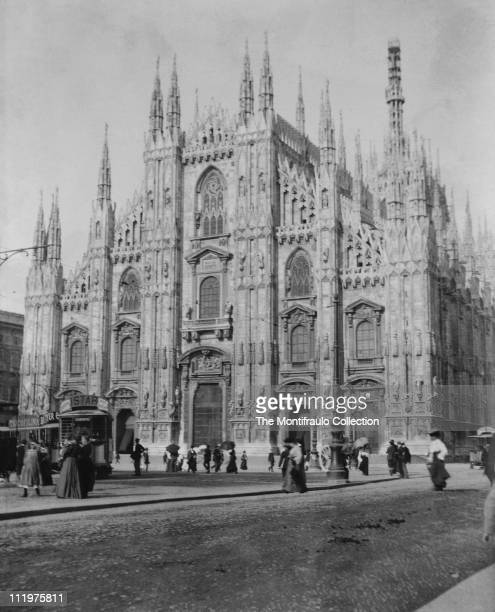 Dedicated to Santa Maria Nascente the gothic Duomo di Milano in Lombardy northern Italy is the fourth largest cathedral in the world took nearly six...